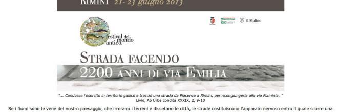 Antico/Presente – Festival del Mondo Antico XV 2013