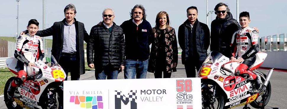 La Motor Valley dell'Emilia Romagna insieme a SIC 58