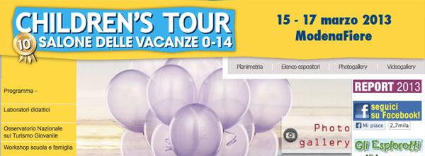 """Emilia Romagna: stand """"più bello"""" a Children's Tour 2013"""