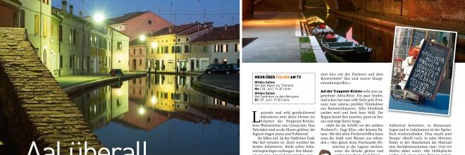 """La stampa svizzera e austriaca """"conquistata"""" dall'atmosfera magica di Comacchio"""