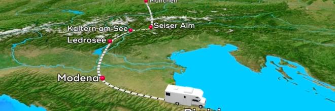 L'Emilia Romagna protagonista sulla tv tedesca: le immagini di Modena aprono il TG meteo di SAT1