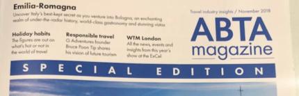 L'Emilia Romagna protagonista al WTM di Londra sulla copertina del Magazine del più grande network di agenti di viaggio UK