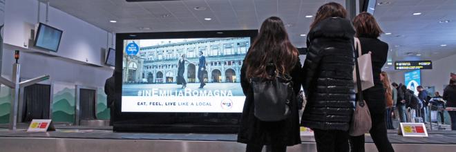 "Campagna promozionale ""Best in Europe 2018"" Emilia Romagna in stazioni e aeroporti"