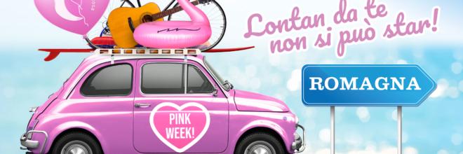 """Pink Week 2020: dal 3 al 9 agosto la Romagna si colora di rosa: una settimana di eventi """"diffusi"""" e slow per divertirsi in totale sicurezza"""