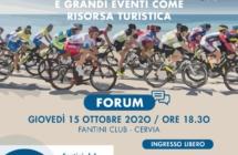 """Forum  """"Ciclismo e grandi eventi come risorsa turistica"""" Giovedì 15 ottobre a Cervia"""